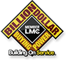The LMC Billion Dollar logo